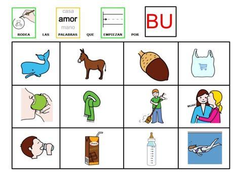 imagenes que comiencen con la letra b rodea las palabras que empiezan por bu materiales