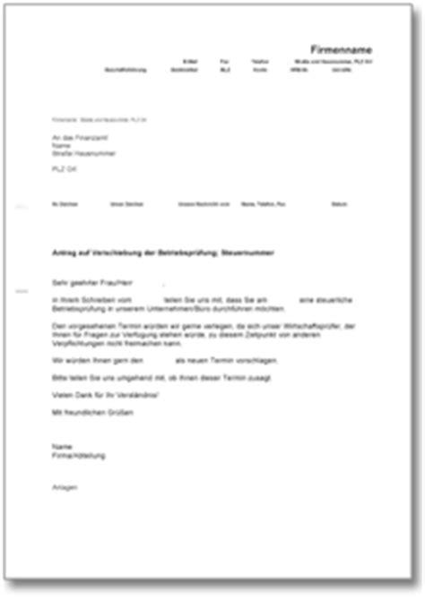 Musterbriefe Steuerberater Dehoga Shop Bitte Um Verschiebung Einer Betriebspr 252 Fung