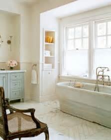 marble herringbone floor cottage bathroom wick design