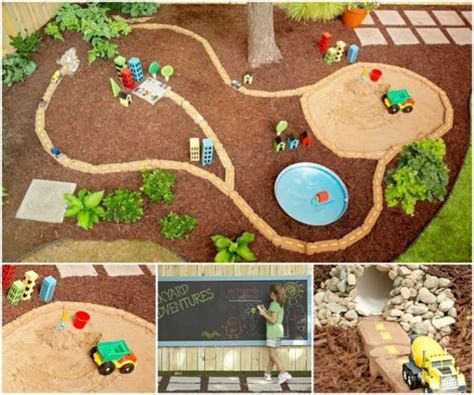diy backyard play area tyre race car track the whoot