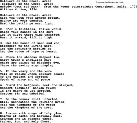 boat song lyrics in english old english song lyrics for soldiers of the cross arise