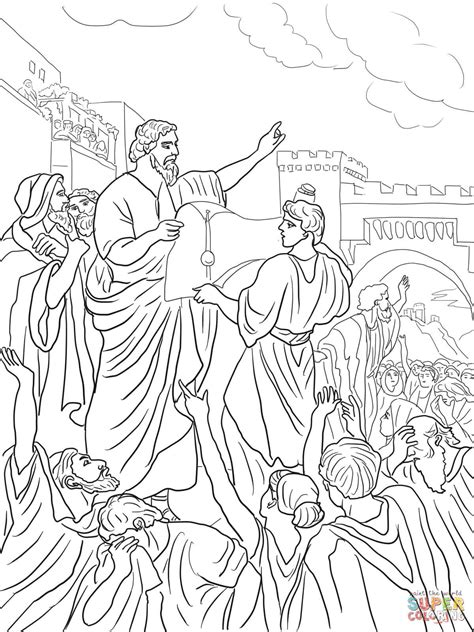 free bible coloring pages ezra ezra reading the torah scroll coloring page free