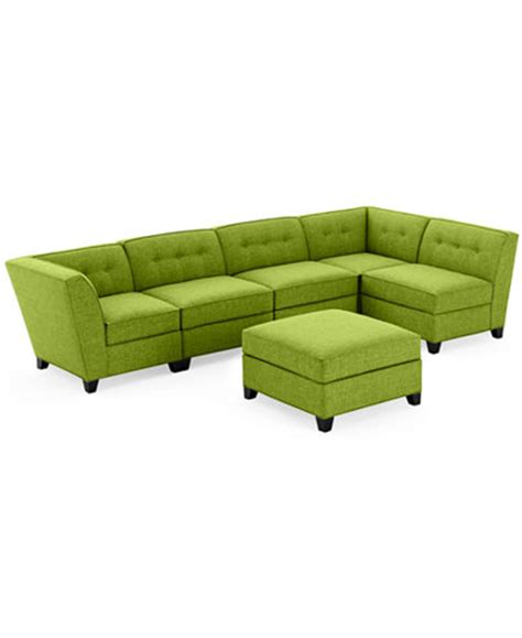 modular sectional sofa with ottoman harper fabric 6 piece modular sectional sofa with ottoman