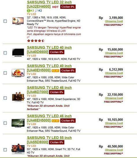 Tv Samsung Di Bandung harga televisi led umum carapedia