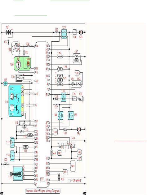 daewoo matiz stereo wiring diagram repair wiring scheme