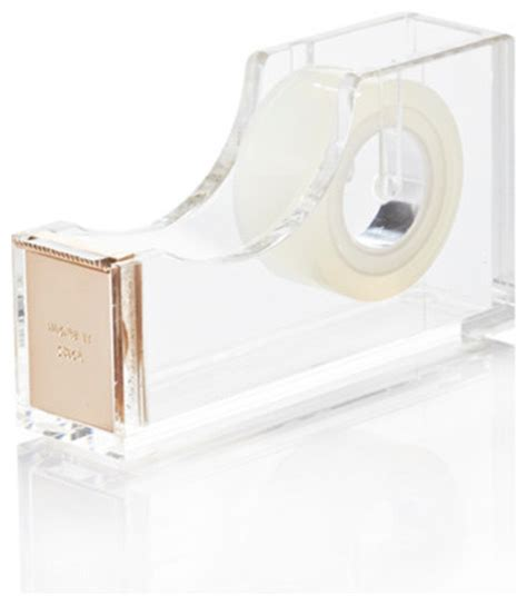 Kate Spade Gold Acrylic Tape Dispenser Contemporary Kate Spade Desk Accessories