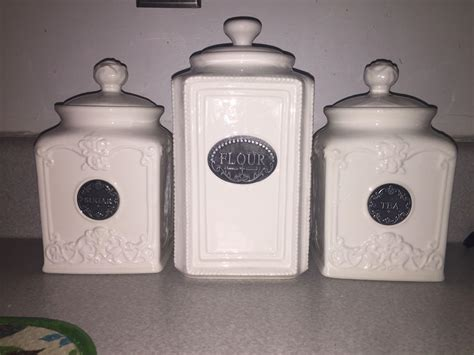 thl kitchen canisters find more thl off white ceramic canister set for sale at