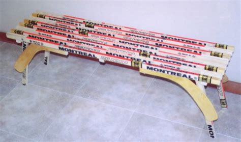 bench hockey custom hockey stick furniture hockey stick bench