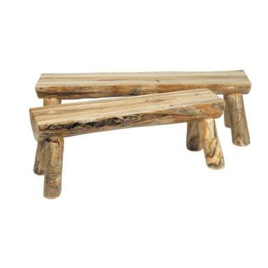 half log bench mountain woods log furniture aspen half log bench