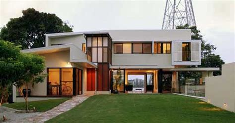 residential architectural design beautiful house integrated in the environment of