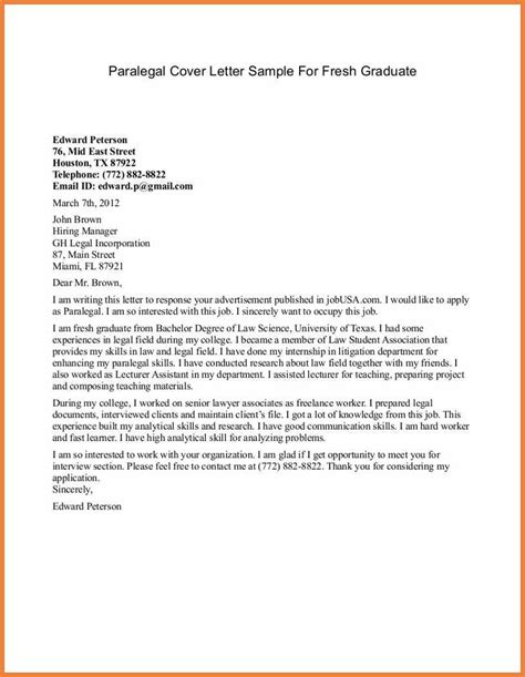 Paralegal Cover Letter For Beginners Entry Level Cover Letter Sop