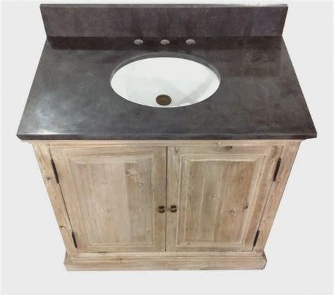 Legion 36 inch Rustic Single Sink Bathroom Vanity WK1836, Marble Top