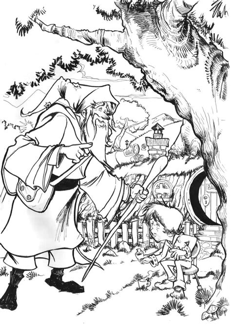 Bilbo The Hobbit Free Coloring Pages Hobbit Coloring Pages