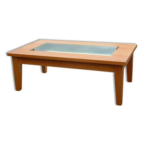woodland with glass insert coffee table