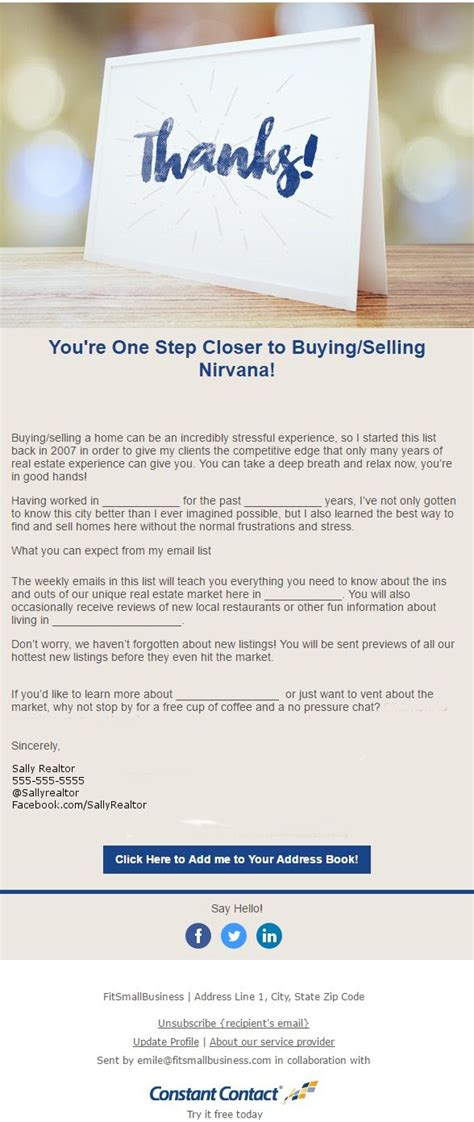 Real Estate Email Marketing The Five Emails You Need To Master Real Estate Follow Up Email Templates