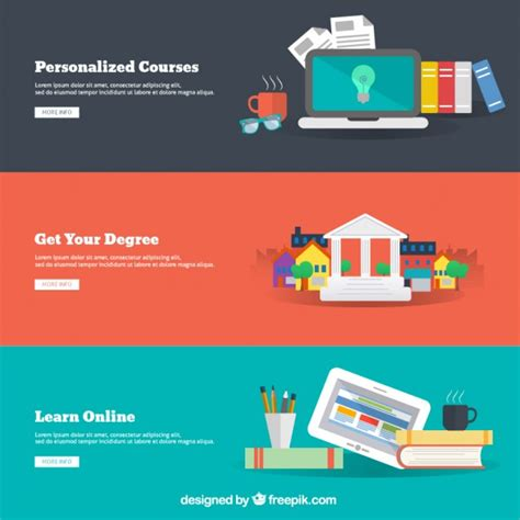 online education infographic vector free download