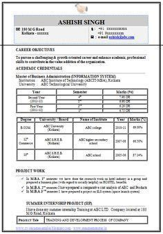 Mba Computer Science by Professional Curriculum Vitae Resume Template For All