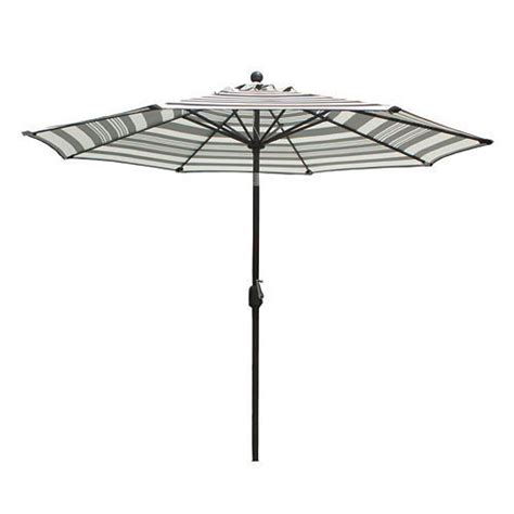 Sonoma Goods For Life 9 Ft Striped Crank And Tilt Patio Crank And Tilt Patio Umbrella