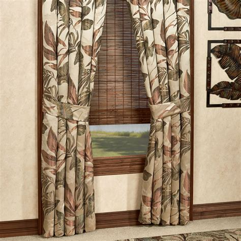 Tropical Window Curtains Bali Palm Tropical Window Treatments By Croscill