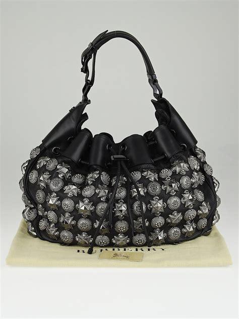Burberry Leather Warrior Handbag burberry prorsum black leather warrior hobo bag