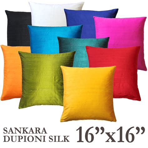 Pillows And Throws by Sankara Silk Throw Pillows 16x16