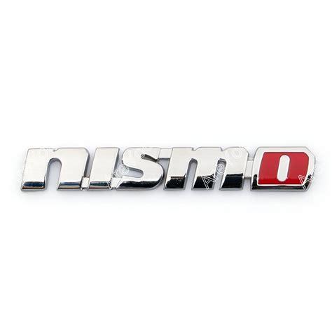 Emblem Nismo 3d car emblem badge sticker decal metal nismo silver for teana tiida ebay