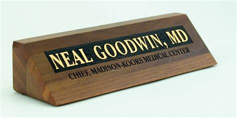 acrylic desk name plates solid walnut desk nameplate w laser carved design 2 quot x8