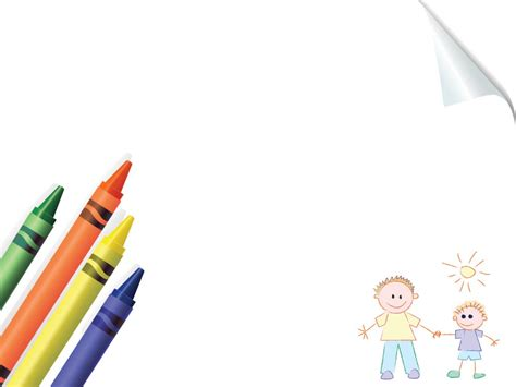 Crayons Board School Powerpoint Templates Blue Education Green Orange Yellow Free Ppt Free Powerpoint Templates For School
