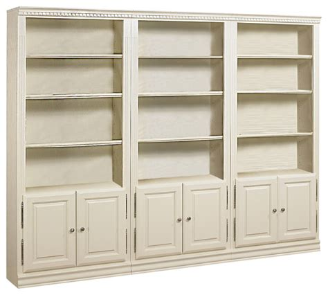 wall bookcase with doors hton 3 wall 84 quot with doors traditional