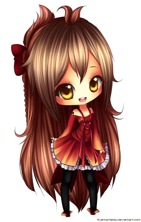 cute anime chibi girl with red hair c myetti by hyanna natsu on deviantart