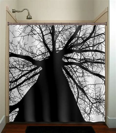 Bathroom Window Curtains Black And White 25 Best Ideas About Tree Shower Curtains On