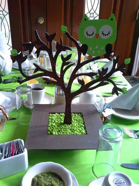 baby shower owl centerpieces kailey s baby shower jan