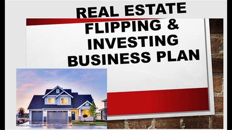 home flipping business plan real estate house flipping business plan youtube