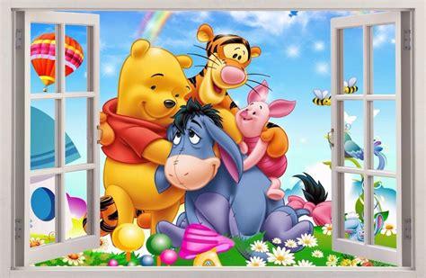 winnie the pooh schlafzimmer wandaufkleber fenster 3d winnie pooh winnie puuh wand
