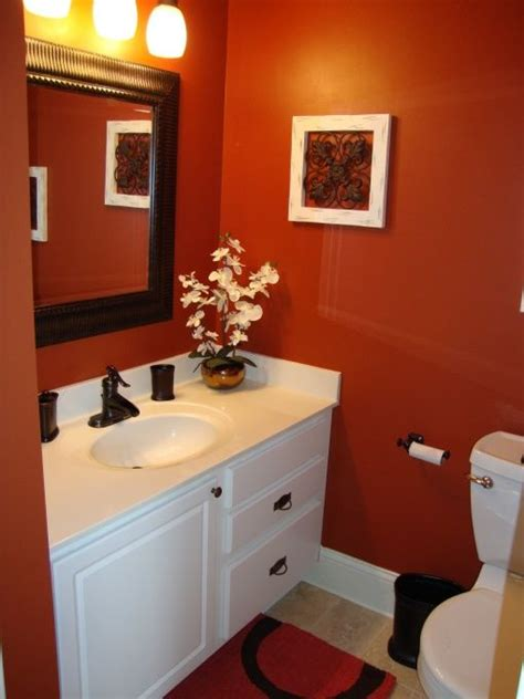 17 best ideas about orange bathrooms on orange bathroom decor bathroom paint
