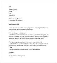 Letter Of Resignation Uk by Resignation Notice Template 12 Free Word Excel Pdf Format Free Premium Templates
