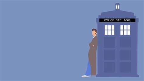 wallpaper iphone 5 doctor who the 10th doctor and his tardis wallpaper by gameaddikt