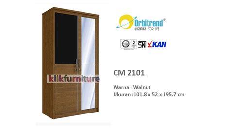 Lemari Pakaian 2 Pintu Plus Kaca Ar 2101 harga lemari pakaian 2 pintu cm 2101 orbitrend promo diskon