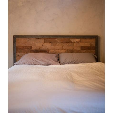 metal and wood headboard reclaimed wood and iron steel headboard