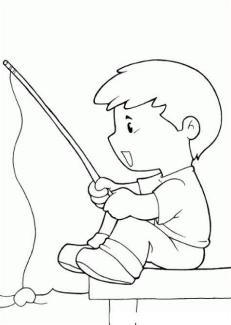 De Ni A Pescando Para Imprimir Y Pintar Dibujos Para Colorear De La | nino pescando para pintar y colorear colorear dibujos de