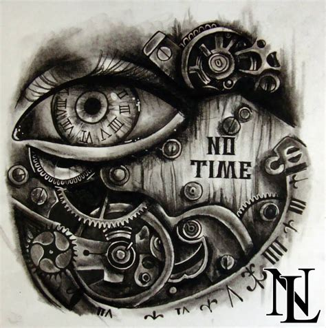 small clock tattoo steunk eye clock as clocks eye and