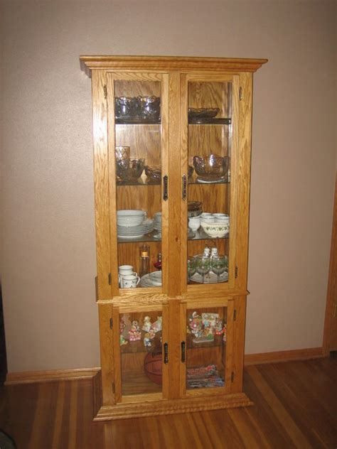 corner curio cabinet oak oak corner curio cabinet by gswoodworker lumberjocks