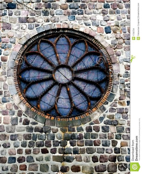 3d Room Escape round church window stock images image 1756734