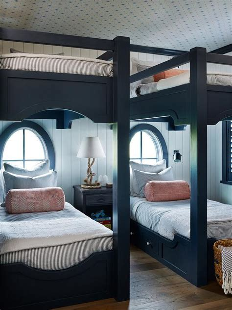 dark blue boys bedroom navy blue bunk beds with storage drawers cottage boy s