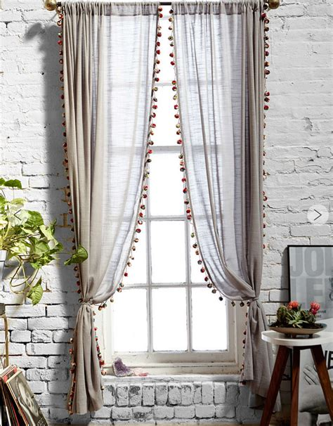 Curtains With Pom Poms Decor On My Mind Pom Pom Curtains There S No Place Like Home