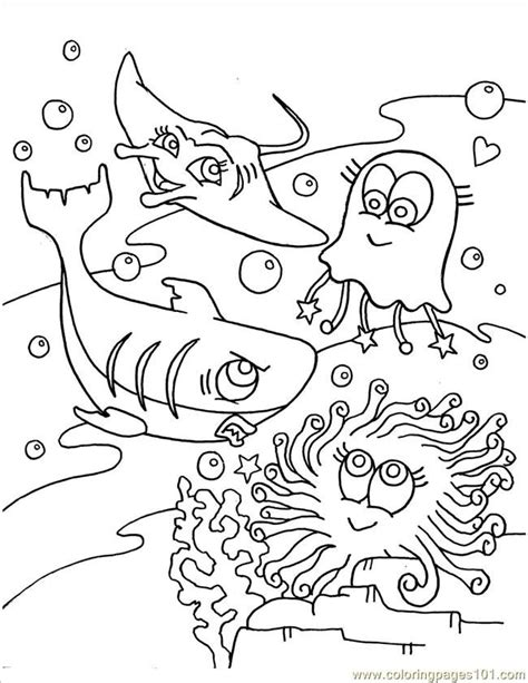 Sea Creatures Coloring Pages For Kids Az Coloring Pages Az Coloring Pages Sea Animals