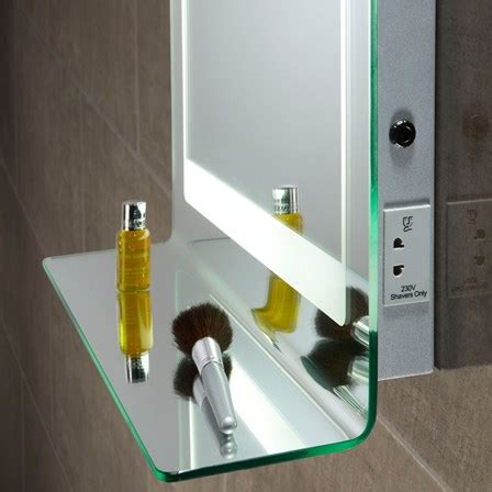 bathroom mirror lights with shaver sockets roper gamma backlit mirror with shaver socket 760