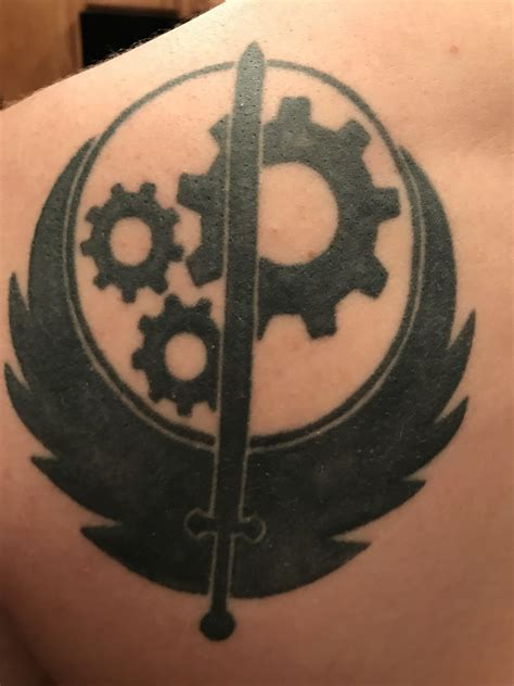 brotherhood of steel tattoo my husband s brotherhood of steel