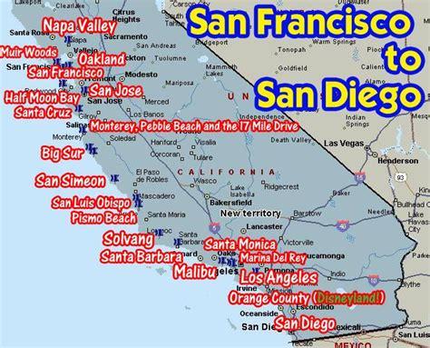 Pch San Francisco To San Diego - coastal california from san francisco to san diego san diego coastal and san