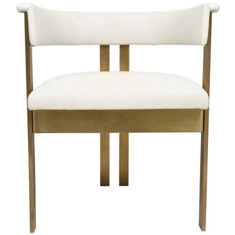 Ivory Dining Chairs Elliott Dining Chairs In Ivory Leather At 1stdibs